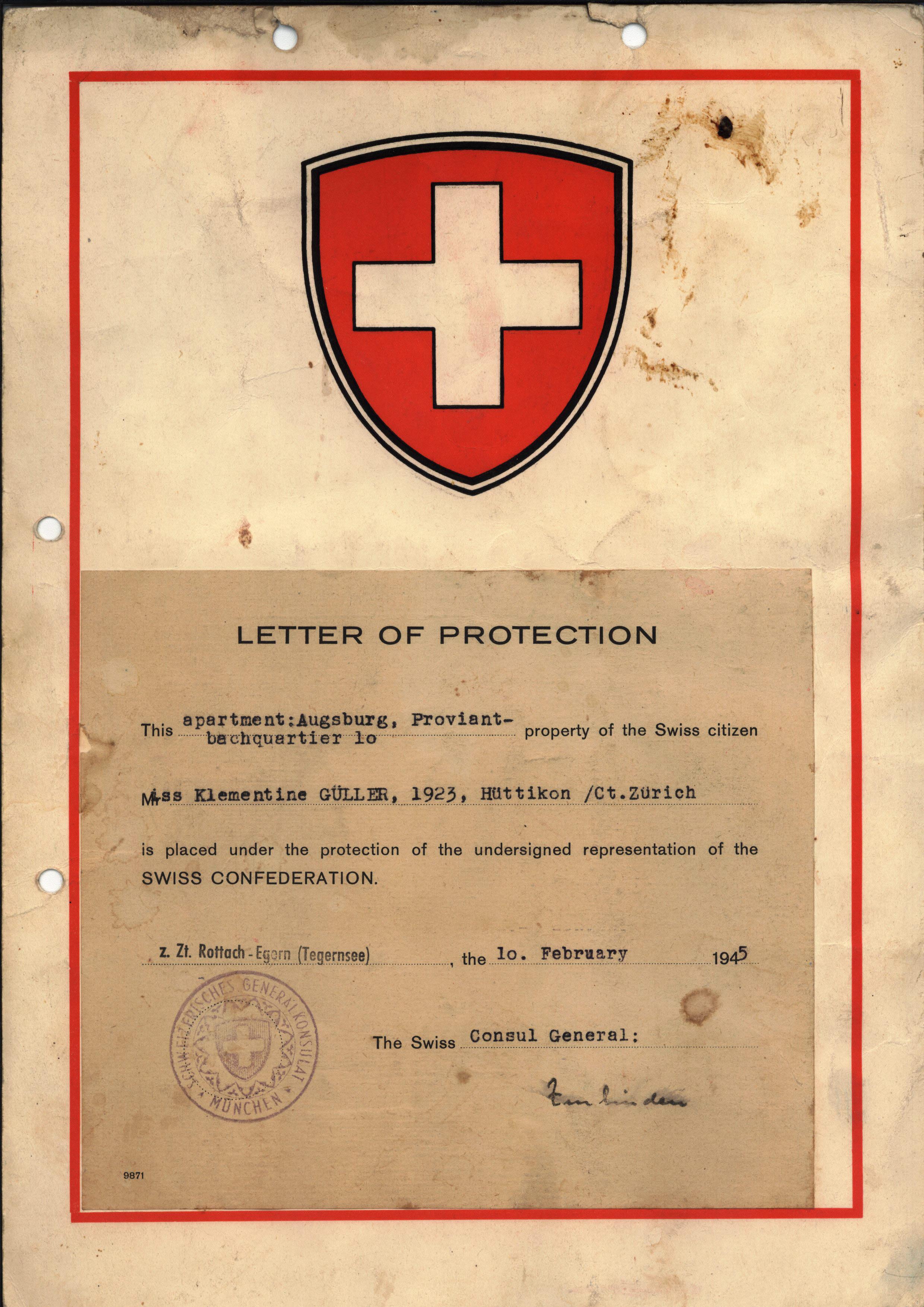 Schutzbrief 2